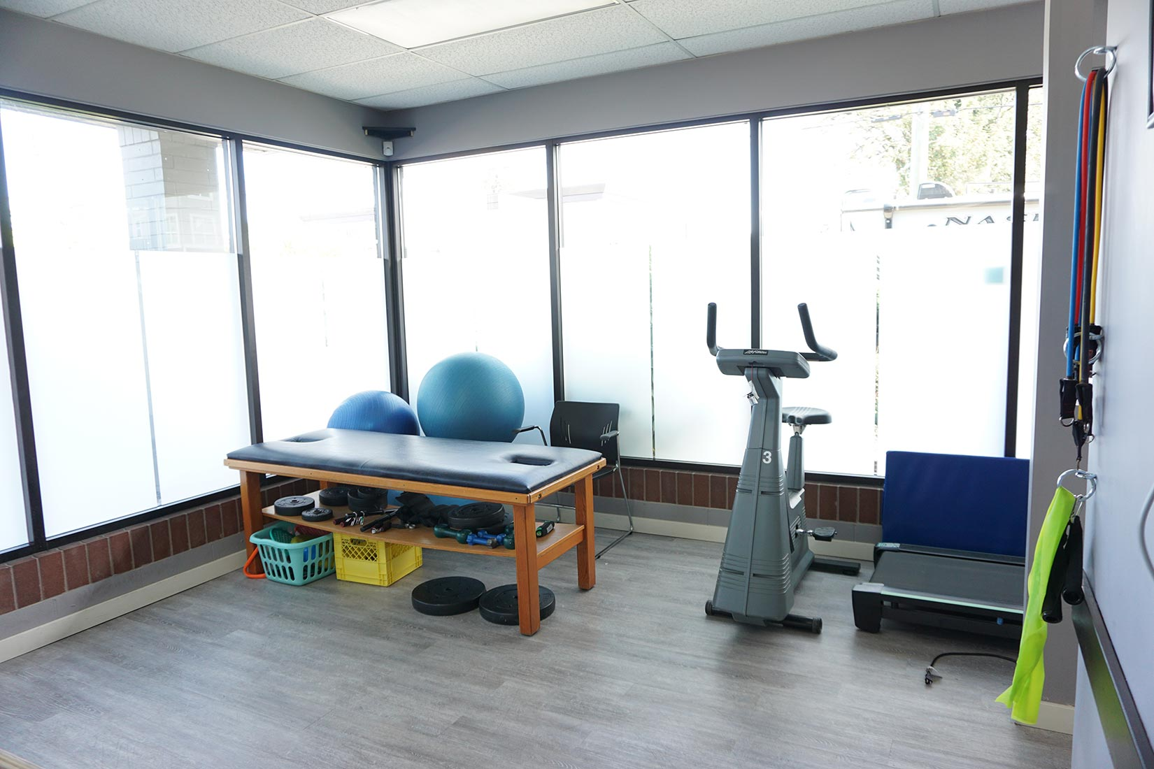 our one of the treatment room in Abbotsford physio clinic