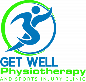 A square logo by get well physiotherapy clinic